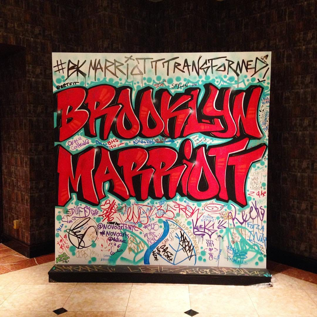 Brooklyn Marriott Tag Wall