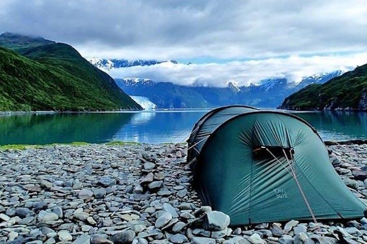 Campsite near Aialik Glacier in Alaska