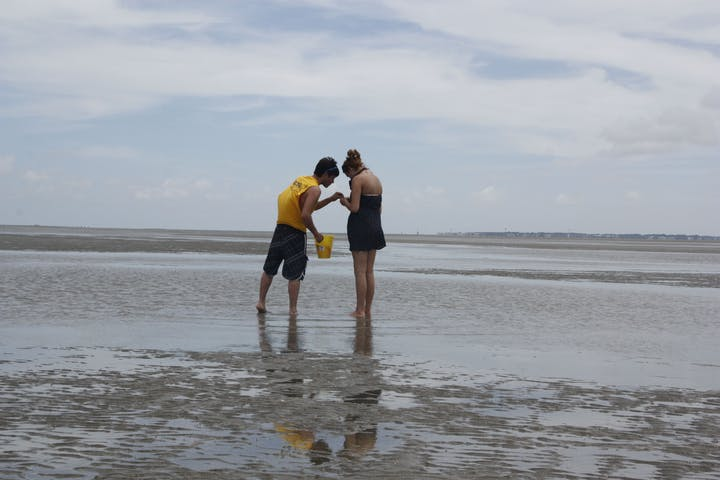 2 people on beach
