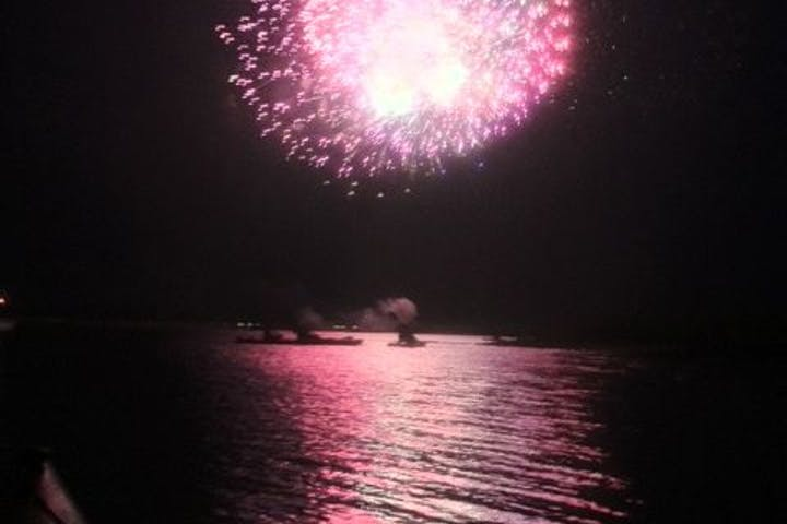 Firework over water