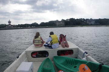 Kids on boat