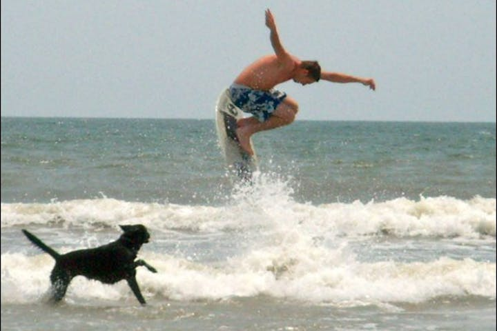 boarder getting air