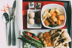 Laura Jane's meal onboard