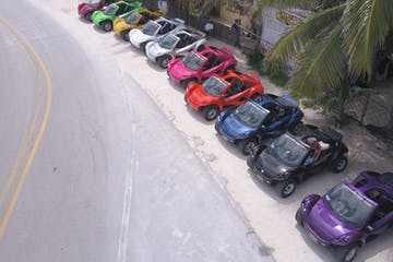 dune buggys parked