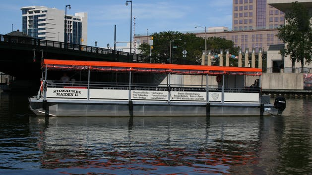 The Milwaukee Maiden II pontoon boat