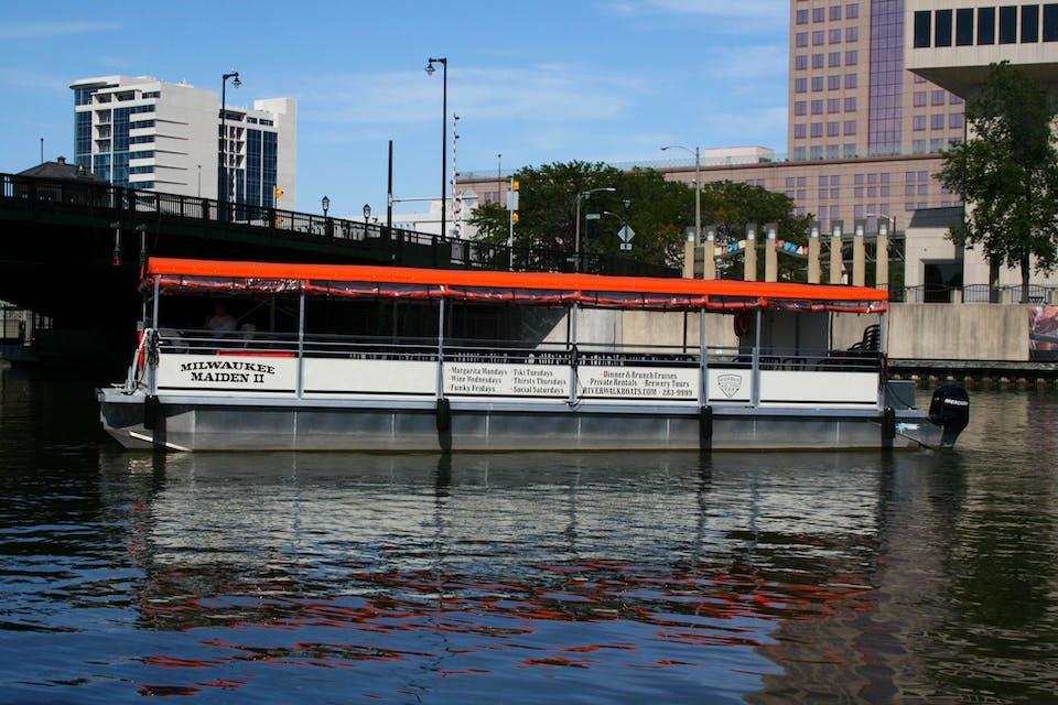 The Milwaukee Maiden II pontoon boat