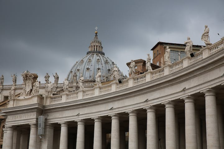 Statue on a building in Vatican City