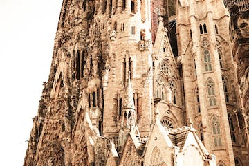 A section of Sagrada Familia in Barcelona