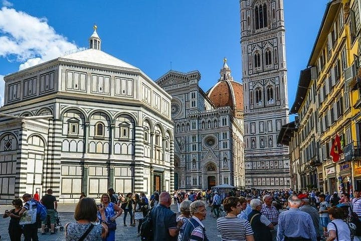 A square full of people in Florence