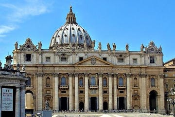 The façade of St. Peter in Vatican