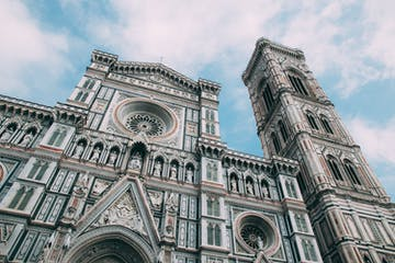 The façade of Duomo in Florence