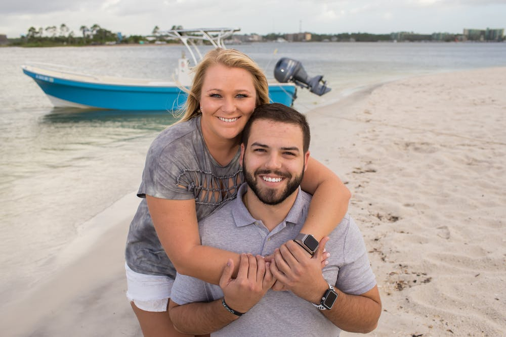 Surprise Engagement in Orange Beach, Alabama
