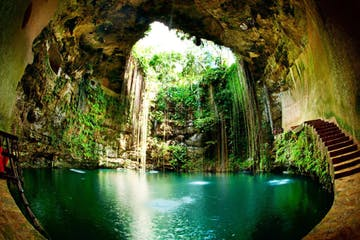 a cenote in Mexico