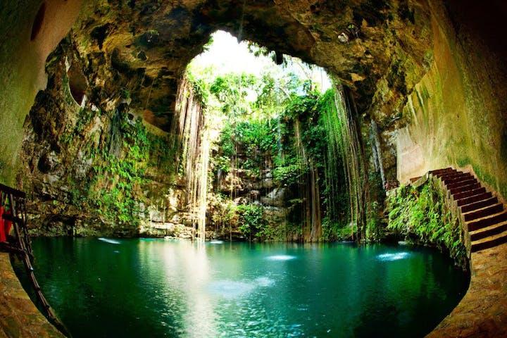 a cenote in Mexico