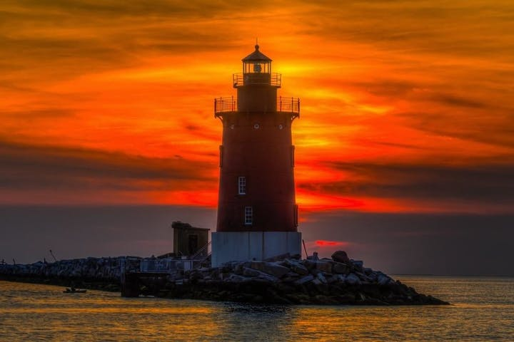 Lighthouse at sunset