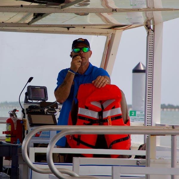 Captain on radio