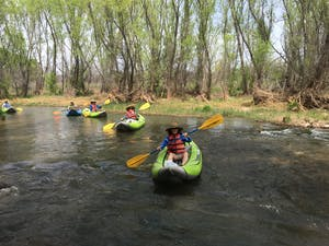Kayaks on Verde River