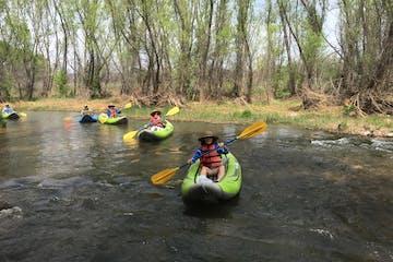 Kayaks on Verde River