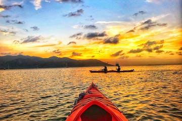 first person view sunset kayak tour