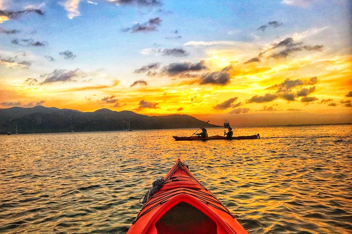 first person view sunset kayak tour