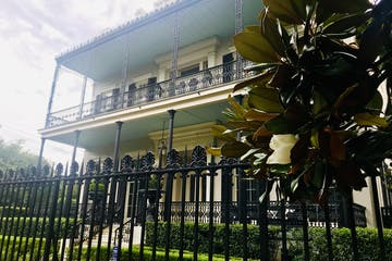 A mansion in the garden district of New Orleans