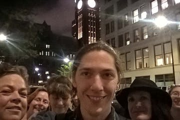 A tour group in Minneapolis