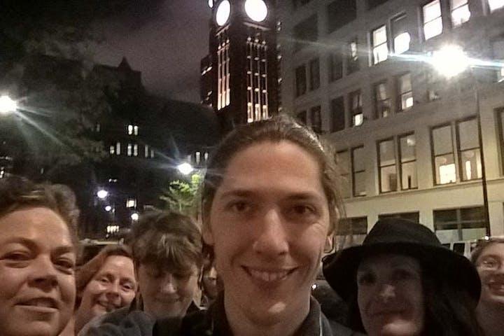 A tour group in Minneapolis