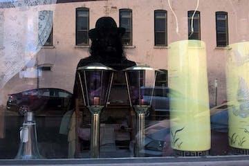 A silhouette in a window