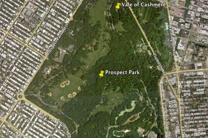 map of prospect park