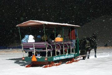 a full sleigh dashing through the snow