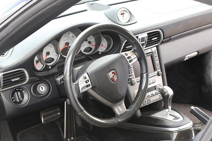 A look at the interior of a Porsche