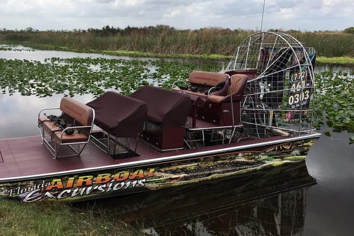 Airboat on top of the swamp