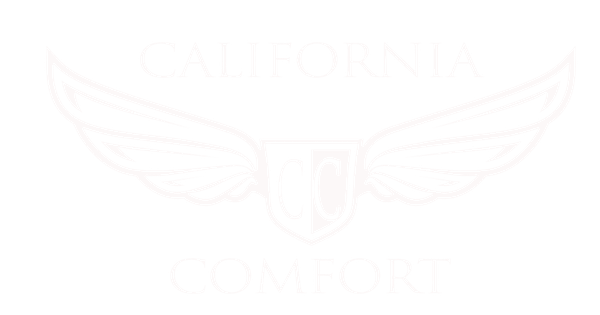 White Logo of Comfort Wine Tours