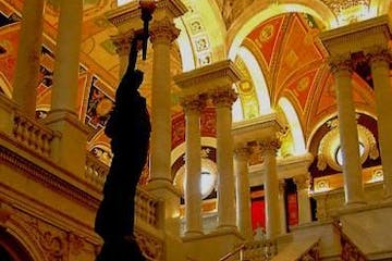 Staircase and arches in the library of congress