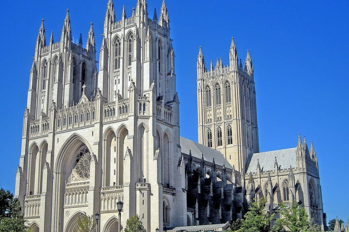 The outside of the National Cathedral