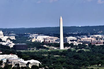 view of Washington, DC from Central Place Tower
