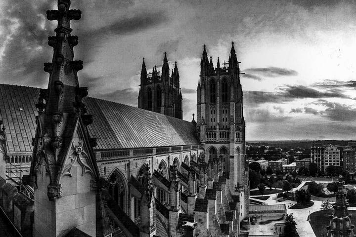 The buttresses of the National Cathedral