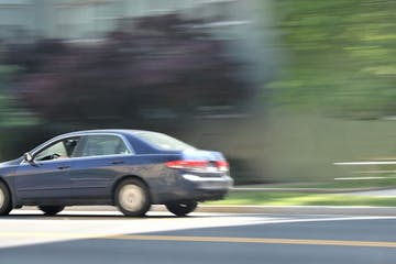 Panning a moving car