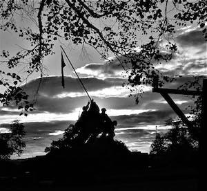 Iwo Jima Memorial at Dawn