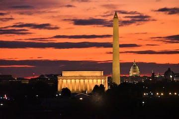 Washington, DC at sunrise from Netherlands Carillon