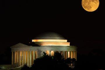 Full Moon over the Jefferson Memorial