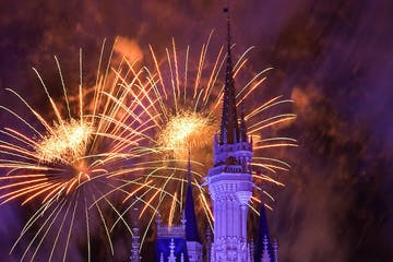 fireworks over epcot center