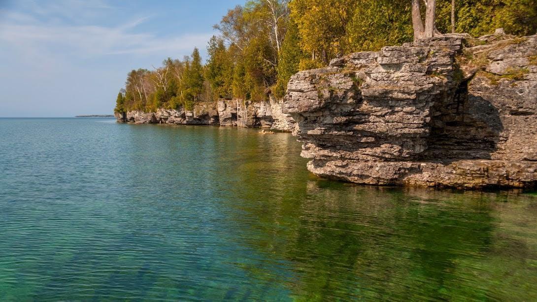 Bluffs near Cave Point, Wisconsin