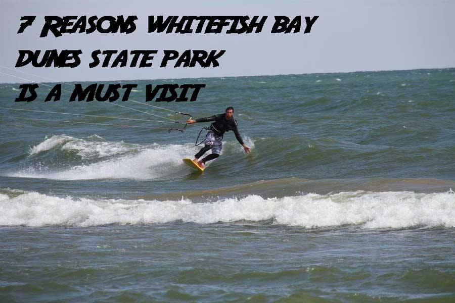 Whitefish Bay Dunes State Park kitesurfing
