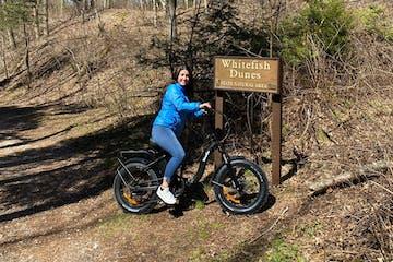 Door County Local riding a Fat Tire E-Bike