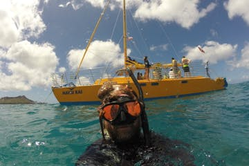 snorkeling from the Manu Kai