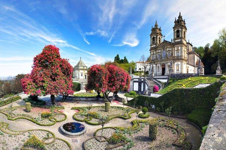 A garden in Braga