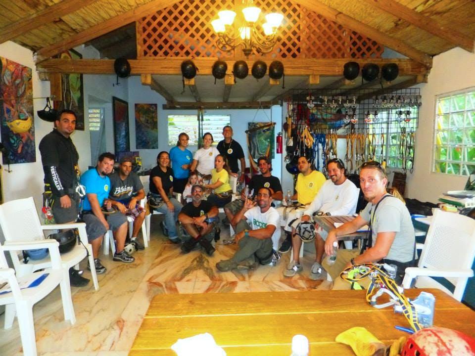 rainforest zipline team