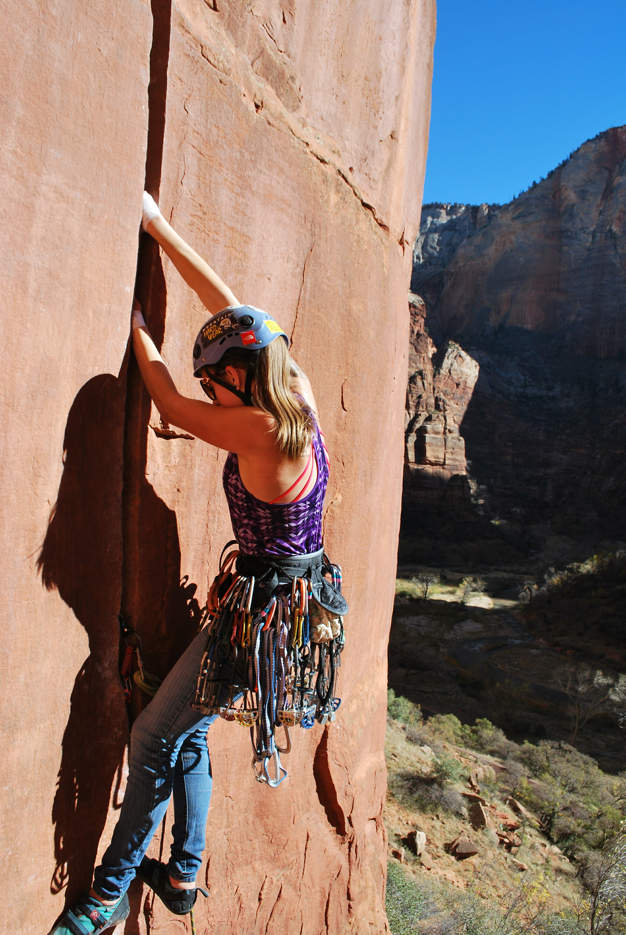 Zion National Park Climbing Fallon Rowe 3