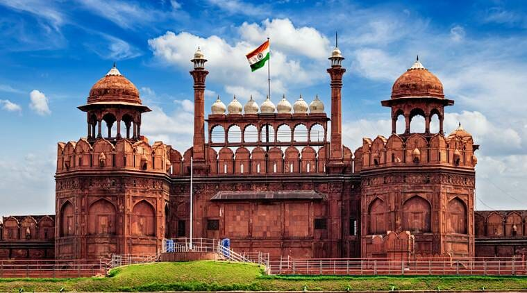 The main gate on Independence day at Red Fort Delhi, India